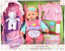 GiGo Dream Collection Baby Travelling Set - w/ Doll, Bassinet and Accessories -