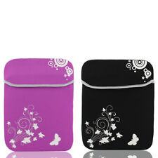 """12"""" 13"""" Flower Butterfly Prints Soft Laptop Tablet Netbook Sleeve Case Bag Pouch"""