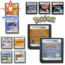 Pokemon HeartGold+SoulSilver & Mario Game Card Set Xmas Gifts For DS NDS DSI 3DS