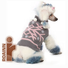 GRAY-PINK brand NEW!   DOG PET OUTWEAR CLOTHING Woolen Sweater - High Quality