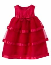 NWT Gymboree Royal RED Tiered Tulle Dress Toddler 12 24 2T,3T,5T Christmas