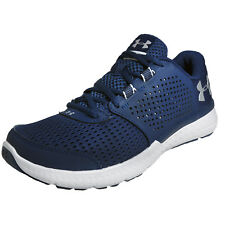 Under Armour Micro G Fuel RN Mens Running Shoes Gym Fitness Trainers Blue