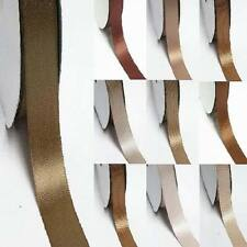 """by the 5 yards double faced satin ribbon 3/8"""" /9mm ivory to brown color"""