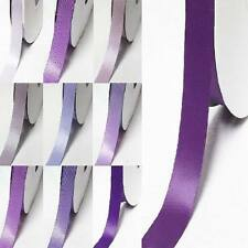 "by the 5 yards double faced satin ribbon 1"" /25mm  lilac purple s color"