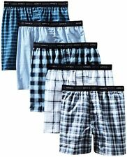 Hanes Men's FreshIQ Tagless Tartan Boxers W/ Exposed Waistband (5 Pack and 10