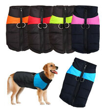 Small/Large Pet Dog Winter Vest Clothes Coat Waterproof Padded T-Shirt Apparel