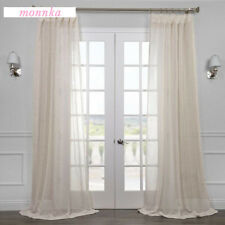 "1 Piece Golden Luxury Classic Sheer Window Curtain Panel 40"" Wide Drapes"
