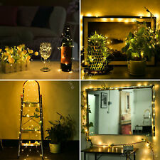 20/50/100LED Outdoor String Light Battery Operated Fairy Light Copper Wire XMAS