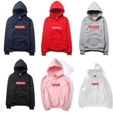 New MENS SUPREME Hip Hop Hoodie Embroidered Cotton Sweater Men's Hoodies