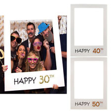 Happy 30/40/50th Birthday Anniversary Photo Booth Props Paper Frame Background