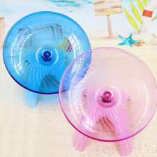 "Flying saucer exercise wheel hamster mouse cage toy 5"" small spinner Pop."