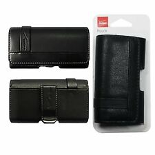 Verizon Universal Leather Pouch Case Cover with Belt Clip for Mobile Cell Phone