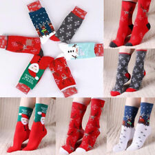 Womens Christmas Xmas Santa Claus ELk Tree Style Warm Soft Comfy Sleep Socks
