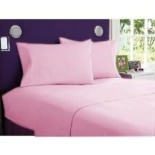 1000 TC EGYPTIAN COTTON UK-BED SHEET SET/DUVET/FITTED PINK SOLID ALL SIZES,