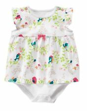 NWT Gymboree Birds and Dinos Romper Baby Girls 0 3 6 12 18 mo