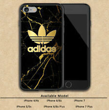 Adidas Gold Marble Luxury Print On Plastic Hard Case For iPhone 5s 6 6s 7 (Plus)
