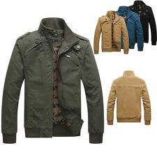 Hot Men's Air Force Military Army Jacket Collar Casual Bomber Coat Outwears Tops
