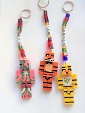Minecraft Personalised Keyring / bag charm  (you chose the name) handcrafted