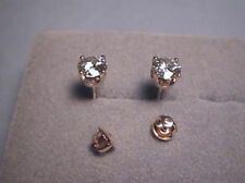 Moissanite Earrings 2 ct Rnd 4 prong Screwback 14K Yellow, Charles and Colvard