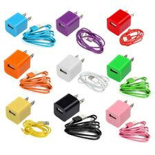 USB Wall Charger + Data Sync Cable Cord for iPhone 5 5C 5S 6 6S 7 8 Plus + X