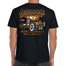 Men's Hotrod 58 T Shirt Rat Rod Garage American Vintage Classic Car 05