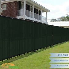 Green 5' x 50' FT Fence Windscreen Privacy Screen Shade Cover Mesh Fabric Tarp