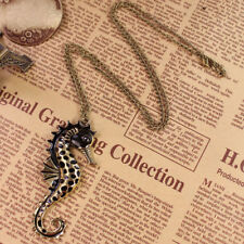 Exquisite Animal Seahorse Pendant Sweater Chain Nice Long Necklace Gift