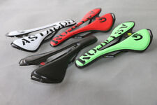 MTB Road Bike Bicycle Hollow Comfort Seat Carbon Fiber Leather Oval Rail Saddles