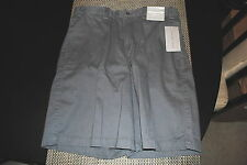 GEOFFREY BEENE MENS EXTENDER WAISTBAND CLASSIC FIT FLAT FRONT SHORTS SIZE 32 NWT