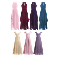 Women Formal Long Gown Party Prom Cocktail Bridesmaid Wedding Evening Dress 4-16