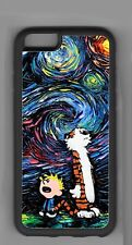 Calvin and Hobbes Starry Night design - Apple iPhone or iPod Case or wallet