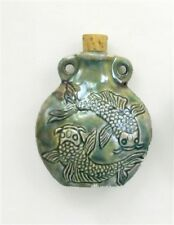 Raku Ceramic Double Koi Bottle or Vessel, Choice of Lot Size & Price