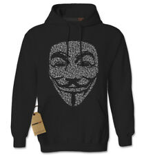 V for Vendetta / Guy Fawkes Mask Adult Hoodie Sweatshirt