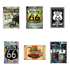 HK- US Route 66 Highway Road Historic Metal Tin Sign Plaque Door Wall Decor Nimb