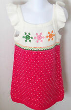 Gymboree Girl's Cheery All The Way Snowflake Sweater Dress Size 6-12 Months