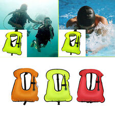 HK- Kids Adults Inflatable Life Jacket Vest for Snorkeling Surfing Swimming Astu