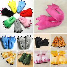 Cartoon Cosplay Plush Slippers Dinosaur Animal Claw Paw Warm Home Indoor Shoes