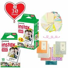 30 Sheet - Fujifilm Instax Mini White Film for Fuji Mini 9 8 90 70 Polaroid Xmas