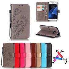 Luxury Flip PU Leather Card Photo Slot Cover Case Wallet For Samsung Galaxy