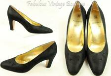 BRUNO MAGLI Italy Bologna Black Leather Heels Pumps Shoes 8