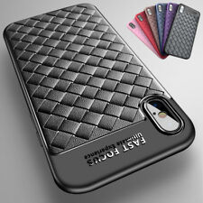 New Design Luxury Matte Slim Hard Plaid Back Case Cover For iPhone X 8 6s 7 Plus