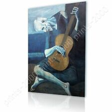 READY TO HANG CANVAS The Old Guitarist Pablo Picasso Oil Painting Print Giclee