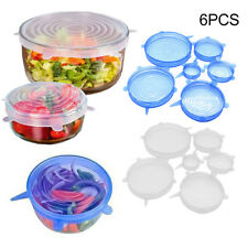 6pcs Microwave Splatter Lid Food Cover Bowl Suction Stretch Covering-Kitchen Kit