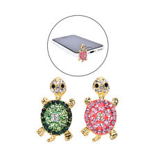 Crystal Turtle Earphone Jack Anti Dust Plug Cap Stopper for CellPhone 3.5mm 2017