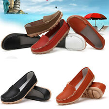 Hot Retro White Slip On Womens Fashion Flat Ballerina Ballet Loafers Boat Shoes