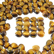 Calibrated(16x12mm)Natural Untreated Tiger Eye Pear Cab Gem Lot For Jewelry Size