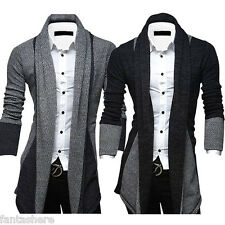 Men's sweaters cardigan knitted autumn slim fit korean jackets coat fashion tops