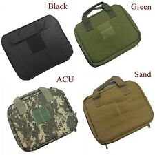 Tactical Airsoft Universal Gun Bag Military Army Hunting Pistol Case Black Green
