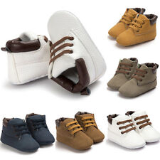 Newborn Baby Boy Girl Soft Sole Crib Shoes Leather Trainers Anti-slip Sneakers
