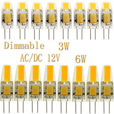 Replace Halogen 10x 50x G4 3W 6W COB Dimmable LED Bulbs Lights Lamp AC DC 12V